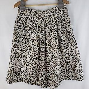 Banana Republic Patterened Silk Skirt Size 6
